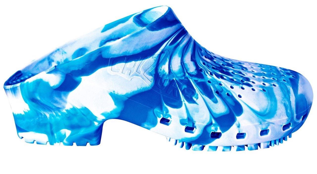Calzuro Fancy zoccoli professionali Fashion effetto marmorizzato Azzurro 6fe4f451297